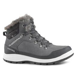 Botas de senderismo nieve mujer SH500 x-warm mid gris