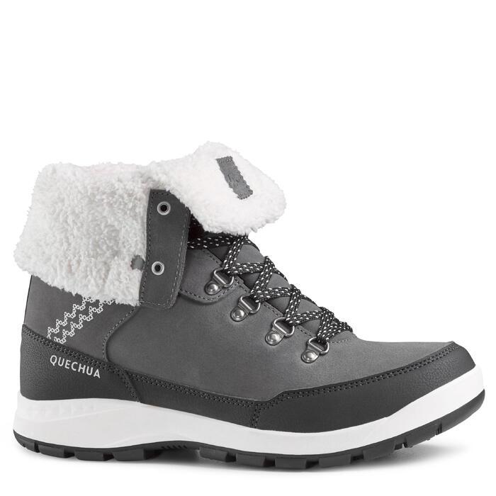 Winterschuhe Winterwandern SH500 Extra-Warm hoch Damen grau