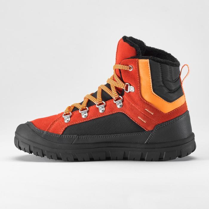 Warme en waterdichte wandelschoenen voor de sneeuw SH500 Warm kinderen veters