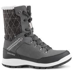 Botas de senderismo nieve mujer SH500 x-warm high gris