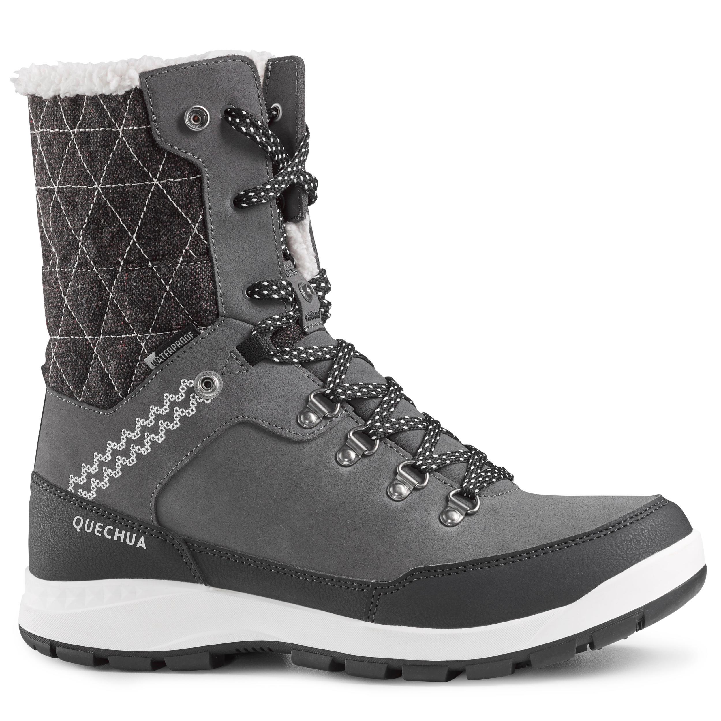 Chaussures de randonnée neige femme SH500 x,warm high bleu