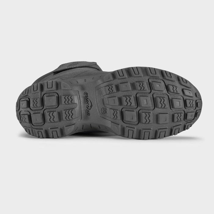 Warme waterdichte wandellaarzen voor de sneeuw dames SH100 X-Warm mid zwart