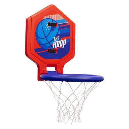 Hoop 500 Kids'/Adult Basketball Hoop - Blue/Red Transportable.