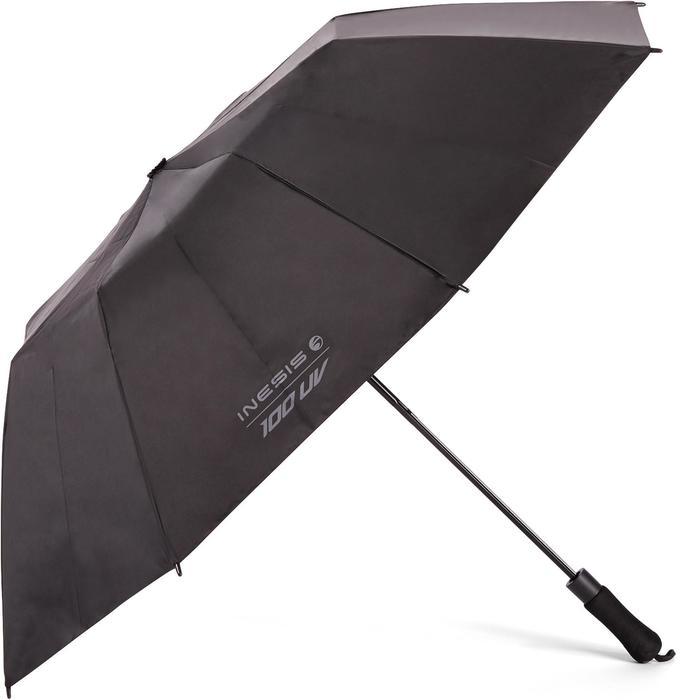 Regenschirm Golf 100 UV-Schutz schwarz