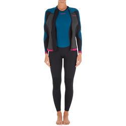 Neopreen top 500 met lange mouwen voor dames, voor surfen, blauw/roze - 164963