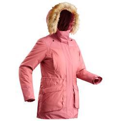 女款極致保暖雪地健行外套SH500-暗粉色