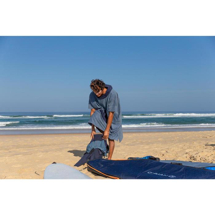 Surf poncho voor volwassenen 900 marineblauw