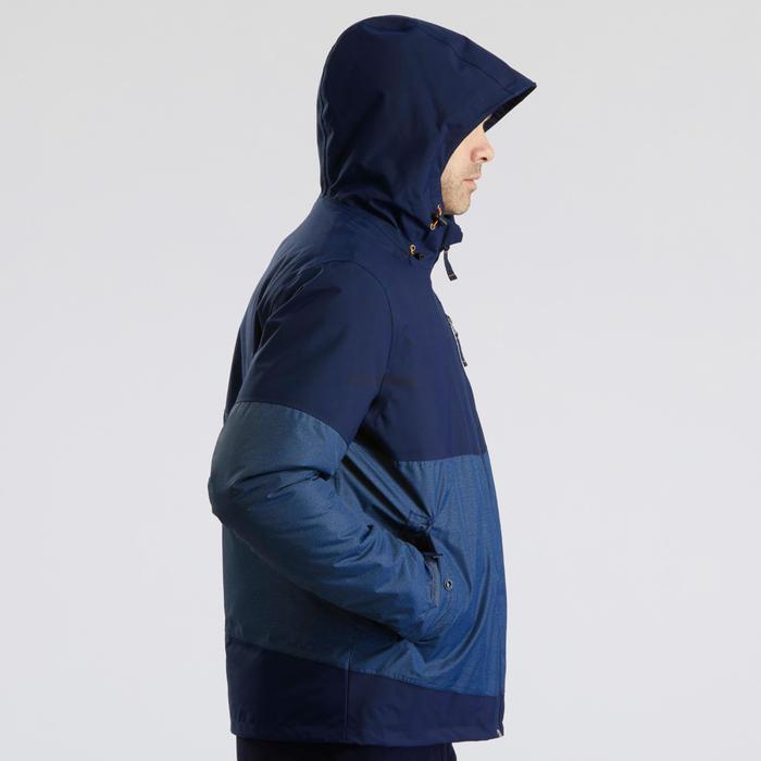 Winterjacke Winterwandern SH100 X-Warm Herren blau