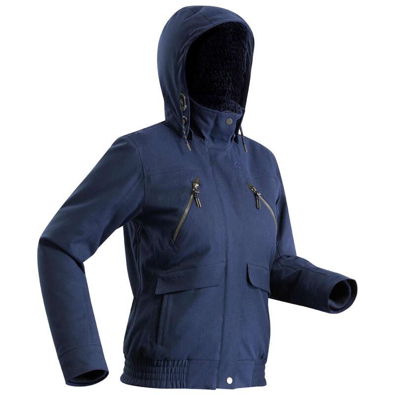 WOMEN SNOW HIKING WARM JACKETS - SH500 X-Warm Women's Waterproof Jacket - Blue QUECHUA