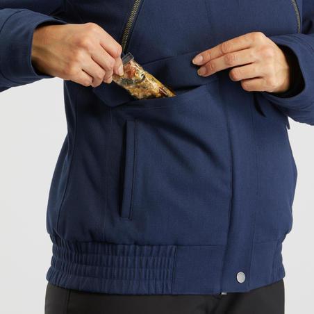 Veste de randonnée neige femme SH500 x-warm bleu