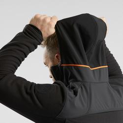 Fleecejacke Stretch Winterwandern SH500 Extra-Warm Herren schwarz