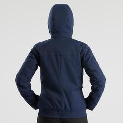 Veste chaude imperméable de randonnée neige femme SH500 x-warm bleu