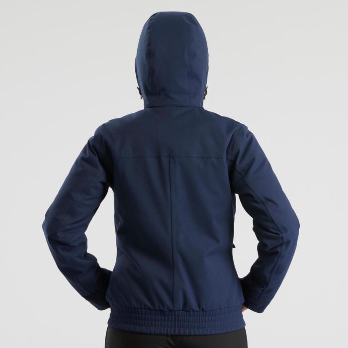 Warme waterdichte wandeljas voor de sneeuw dames SH500 X-warm blauw