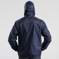 Men's Winter hiking jacket SH100 warm - Navy blue.B
