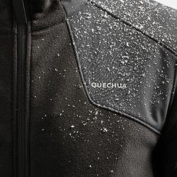 Fleece vest voor sneeuwwandelen heren SH500 X-warm zwart