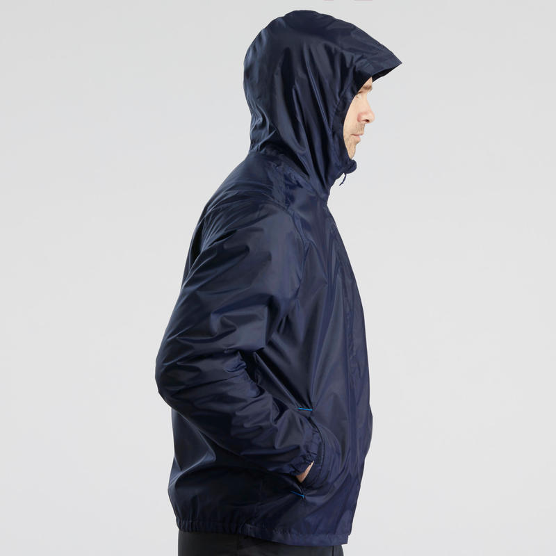 Men's snow hiking jacket SH100 warm - Navy blue.B