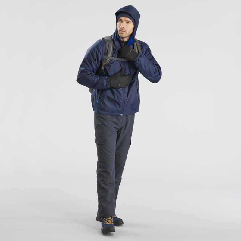 Men's snow hiking jacket SH100 warm - Navy blue.B