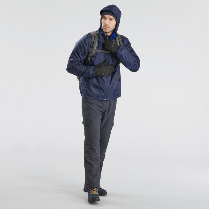 Winterjacke Winterwandern SH100 Warm Herren blau
