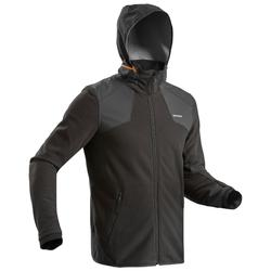 Men's x warm snow hiking fleece jacket SH500 - black