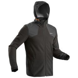 男款超保暖雪地健行刷毛外套SH500-黑色