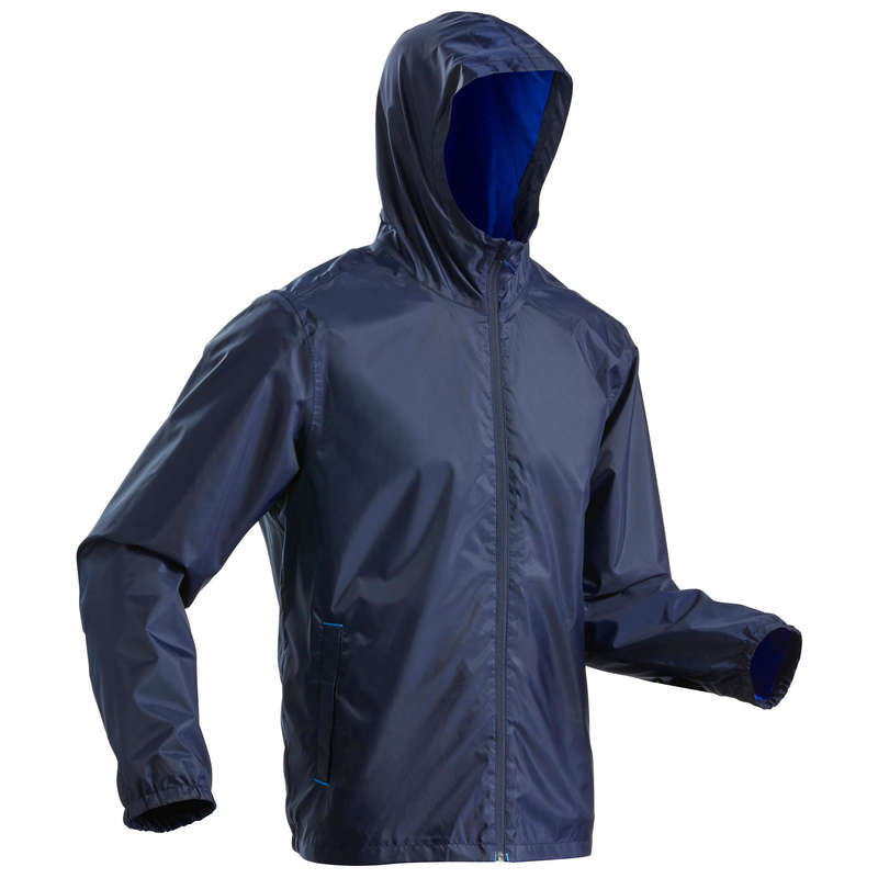 MEN COLD WEATHER SNOW HIKING WARM JACKET Hiking - SH100 Men's Waterproof Jacket - Navy Blue QUECHUA - Hiking Jackets