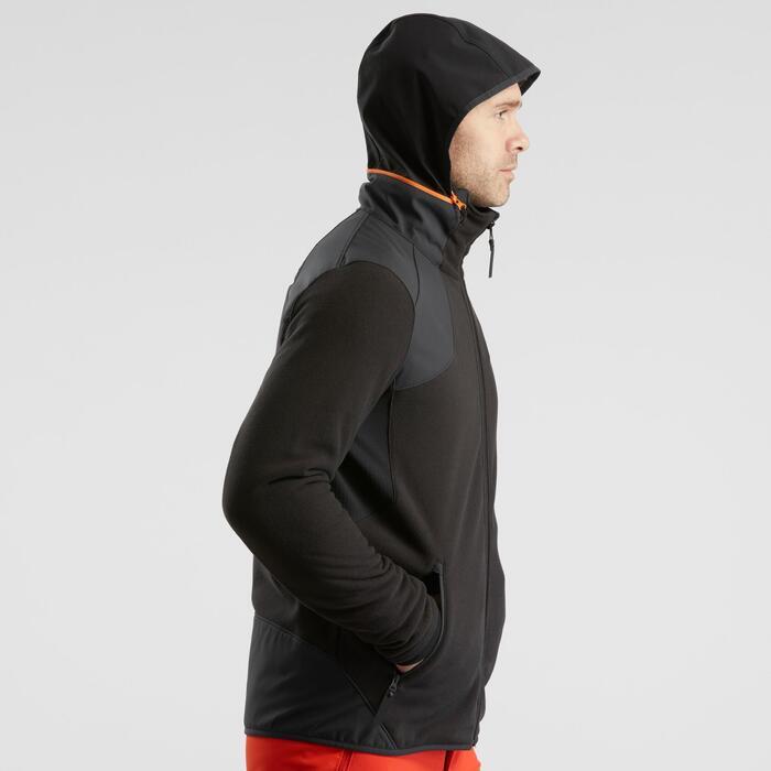 Veste polaire de randonnée neige homme SH500 x-warm noire