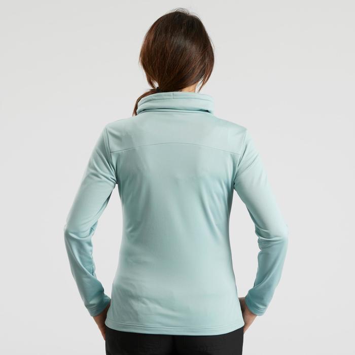 Camiseta manga larga de senderismo nieve mujer SH100 warm azul glaciar