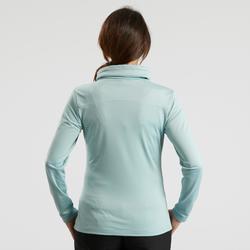 Tee-shirt de randonnée neige manches longues femme SH100 warm ice-bleu