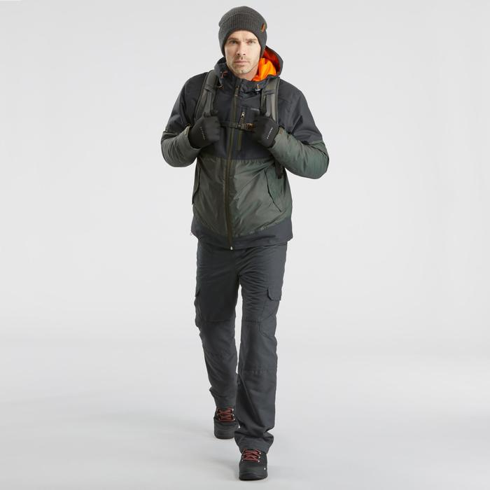 Chaqueta de senderismo nieve hombre SH100 x-warm gris caqui