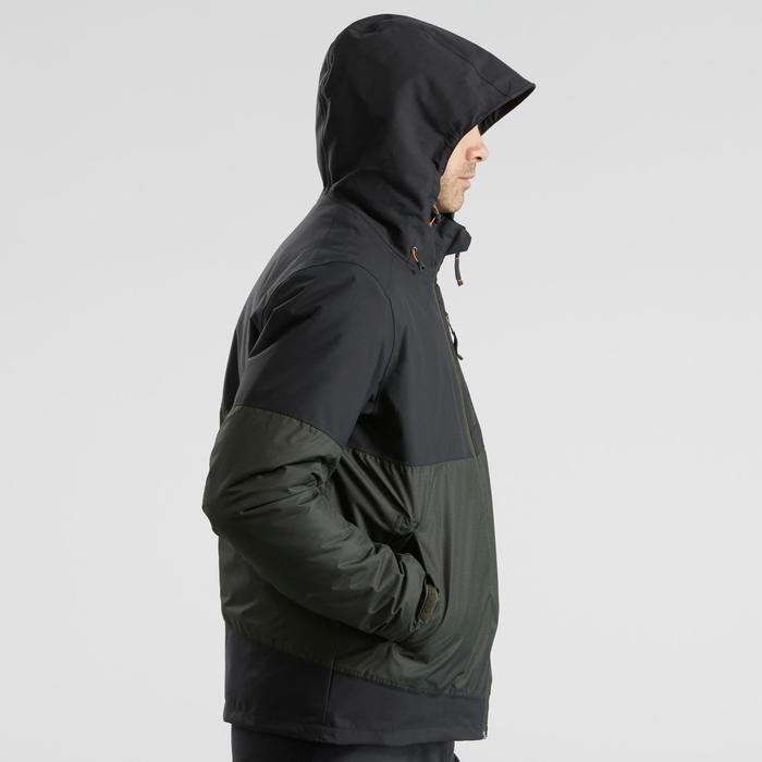 Winterjacke Winterwandern SH100 Extra-Warm Herren grau/khaki