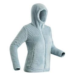 Women's Fleece Snow Hiking Jacket SH100 Ultra-Warm - Ice-Blue