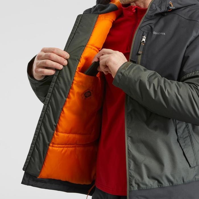 Winterjas heren SH100 X-warm grijs/kaki
