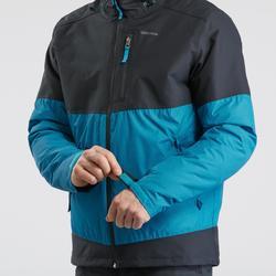 Veste de randonnée neige homme SH100 x-warm bleue gris