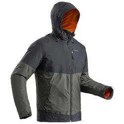 男款超保暖雪地健行外套SH100-灰色/卡其色
