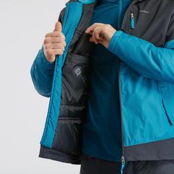 Veste chaude imperméable de randonnée neige homme SH100 x-warm bleue gris
