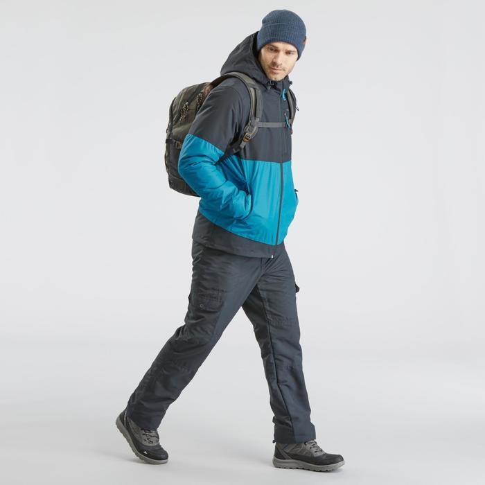 Waterdichte wandeljas voor heren SH100 X-Warm marineblauw