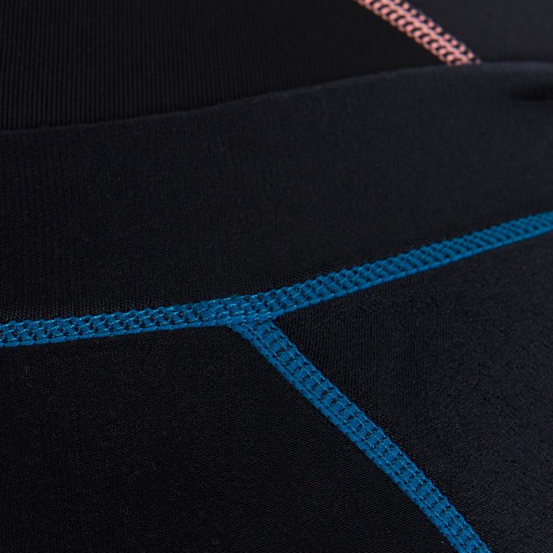 500 Women's Long Sleeve 2mm Neoprene Surfing Wetsuit Top - Blue/Pink