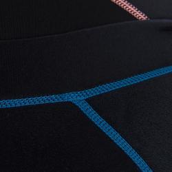 Langärmliges Neoprentop 500 Damen blau/rosa