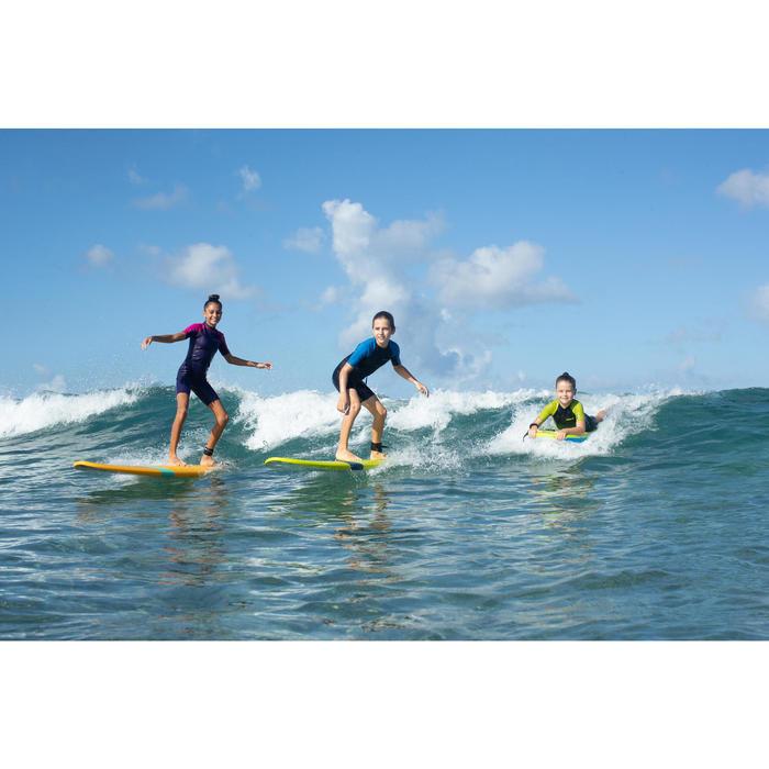 Combinaison Surf Shorty 100 Néoprène 1,5mm enfant Bleu jaune