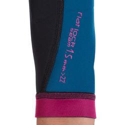 Neopreen top 500 met lange mouwen voor dames, voor surfen, blauw/roze - 164989
