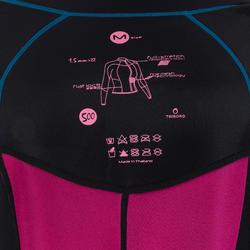 Neopreen top 500 met lange mouwen voor dames, voor surfen, blauw/roze - 164994