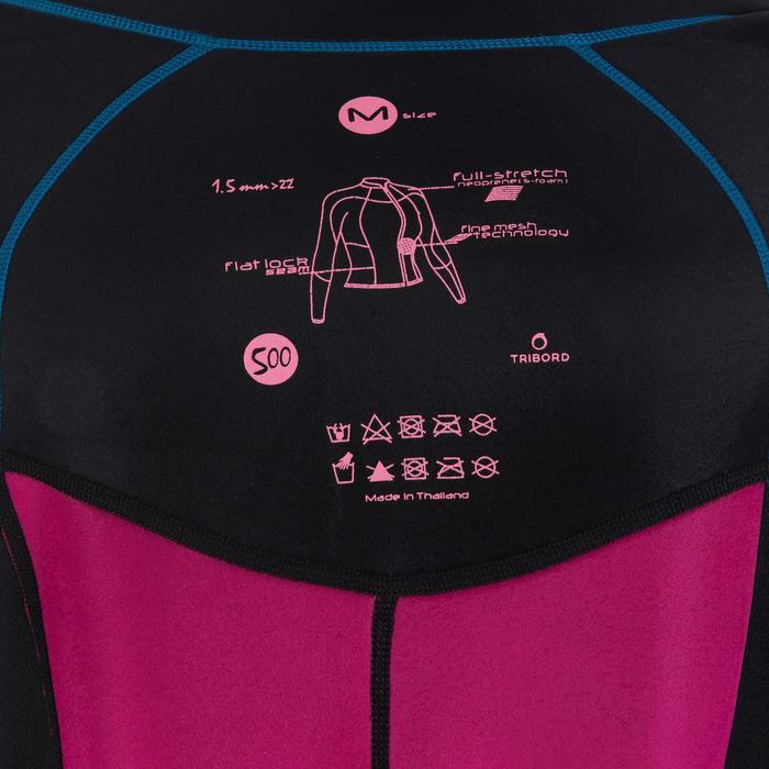Top de neopreno de surf neopreno de 2 mm Top 500 manga larga mujer azul rosa 8ae955fc244