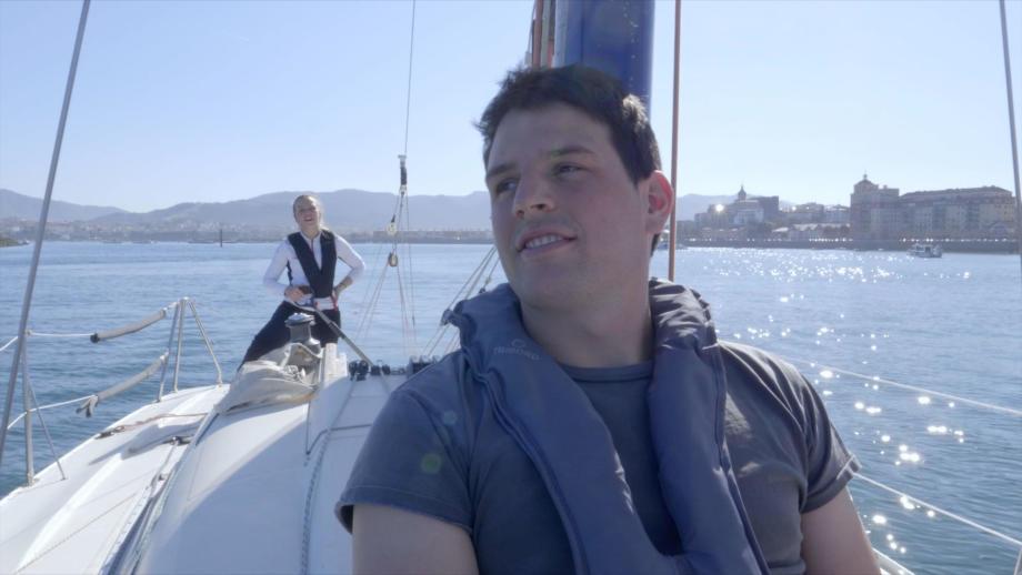 Pierre et Anaïs lors de la dernière navigation de cette dernière