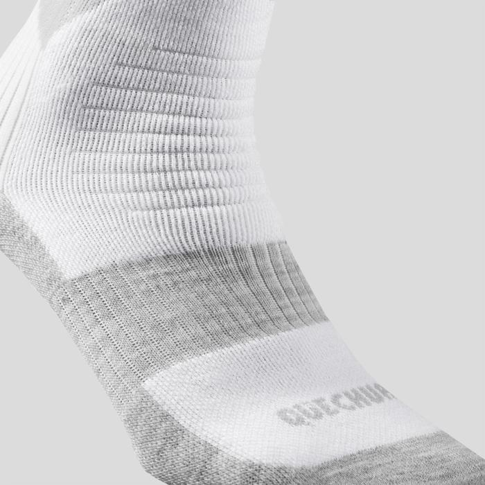 Chaussettes chaudes de randonnée adulte hautes SH100 warm high gris X 2 paires