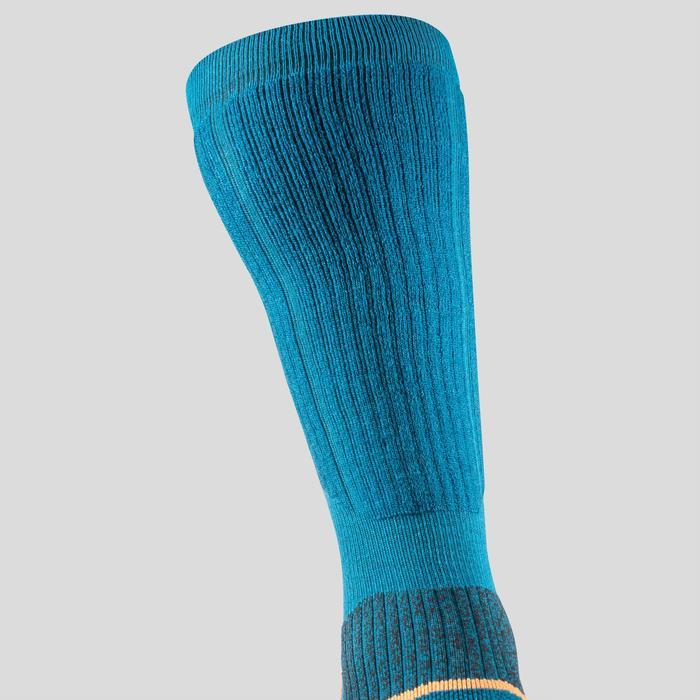 Chaussettes chaudes de randonnée adulte SH520 x-warm high bleues X 2 paires