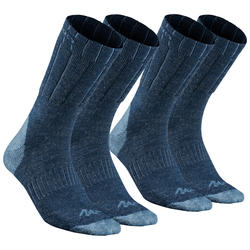 Adult Snow Hiking Socks SH100 Warm Mid - Blue.