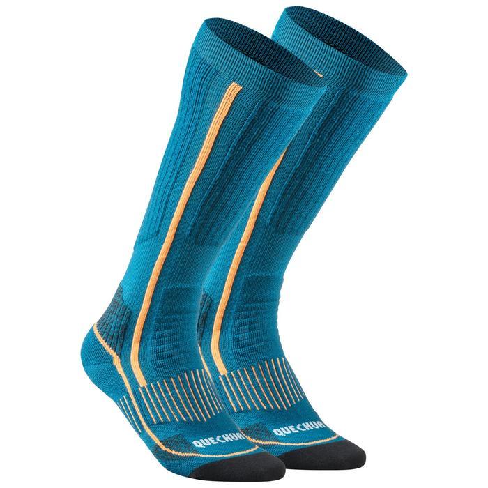 Warme wandelsokken volwassenen SH520 X-Warm high blauw 2 paar