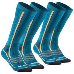 Warme wandelsokken volwassenen SH520 X-Warm high blauw