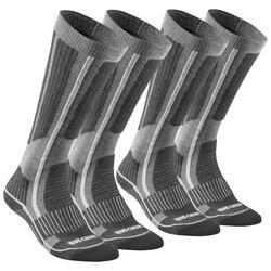 Adult Snow Hiking Socks X-Warm High SH520 - Grey.