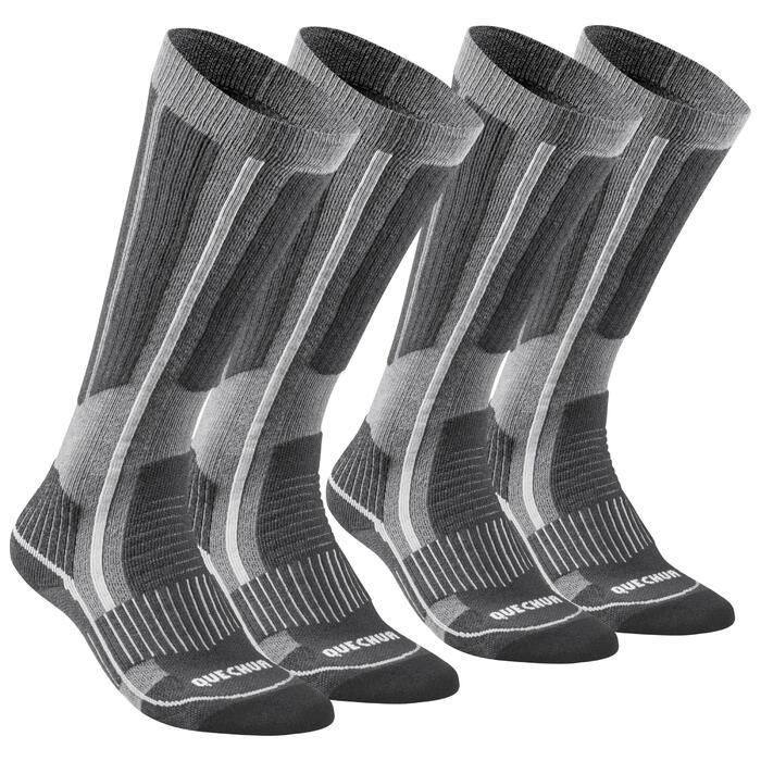 Warme wandelsokken volwassenen SH520 X-Warm high grijs 2 paar